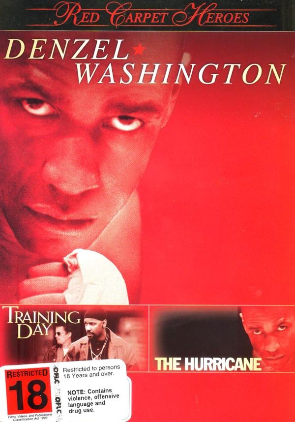 Red Carpet Heroes - Denzel Washington (Training Day / The Hurricane) (2 Disc Set) on DVD image