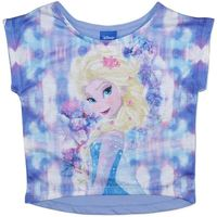 Disney Frozen Elsa Purple T-Shirt (Size 3)