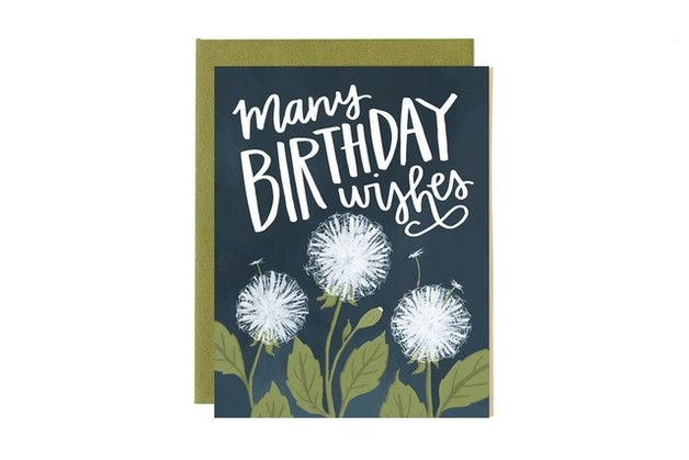 One Canoe Two: Dandelion Birthday - Greeting Card