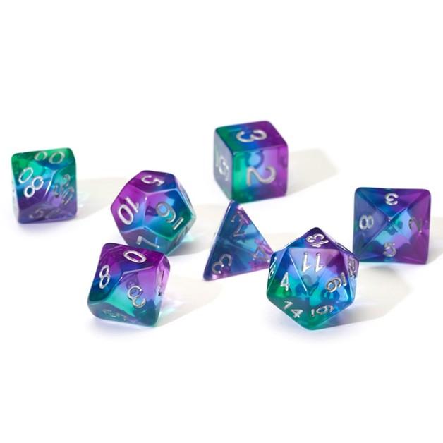 Sirius Dice: Polyhedral Dice Set - Translucent Blue Aurora