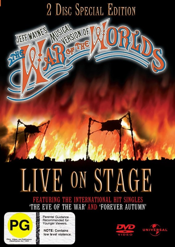 The War Of The Worlds (Jeff Wayne's Musical Version) - Live On Stage!: Special Edition (2 Disc Set) on DVD