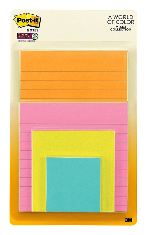 Post-it: Super Sticky Note Pads - Miami Collection (4 Pack)