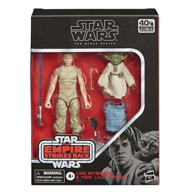 "Star Wars The Black Series: Luke Skywalker & Yoda (Jedi Training) - 6"" Action Figure Set"