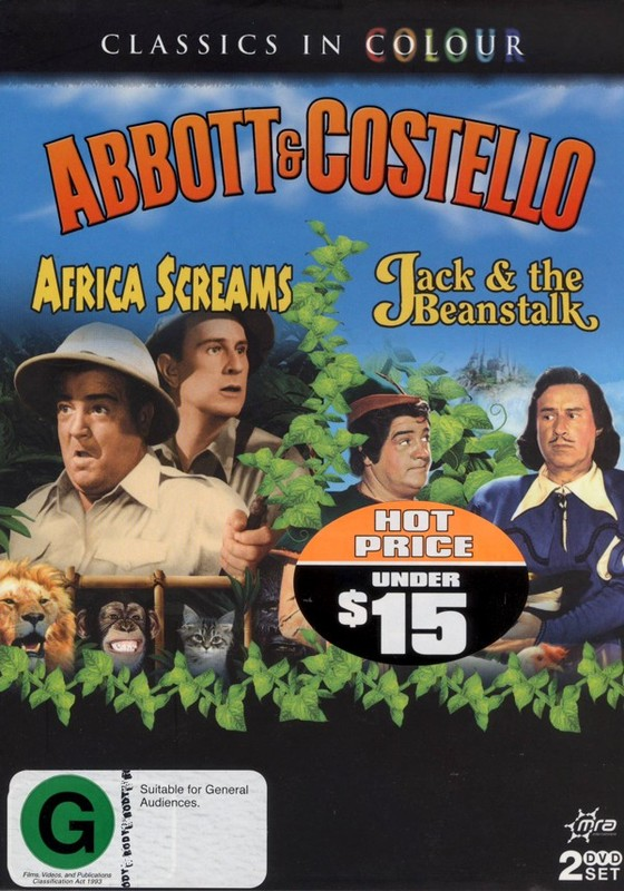 Abbott And Costello - Africa Screams / Jack And The Beanstalk (Classics In Colour) on DVD