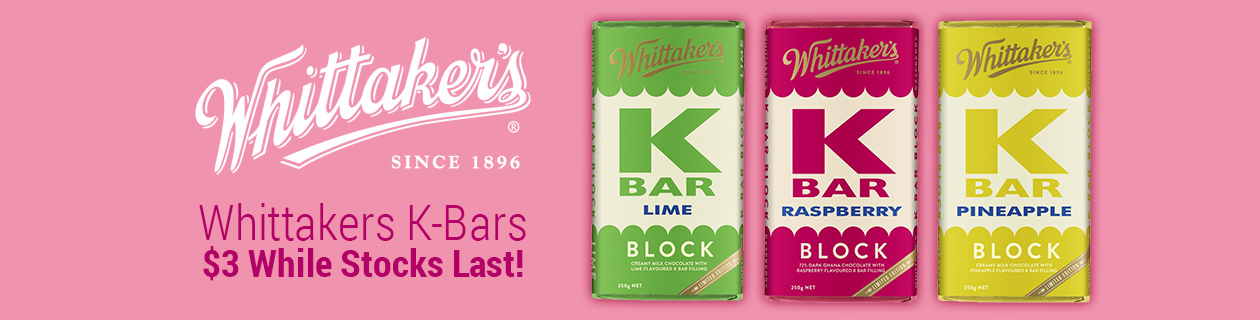 Whittakers K-Bars $3 while stocks last!