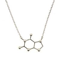 Short Story: Silver Molecule - Necklace