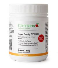 Clinicians Super Family Vitamin C 2000mg Powder (300g)