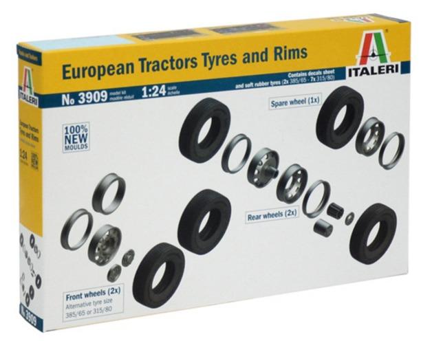 Italeri: 1/24 European Tractor Tires & Rims - Model Kit
