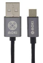Moki Micro-USB SynCharge Cable - Black/Gun Metal 90cm