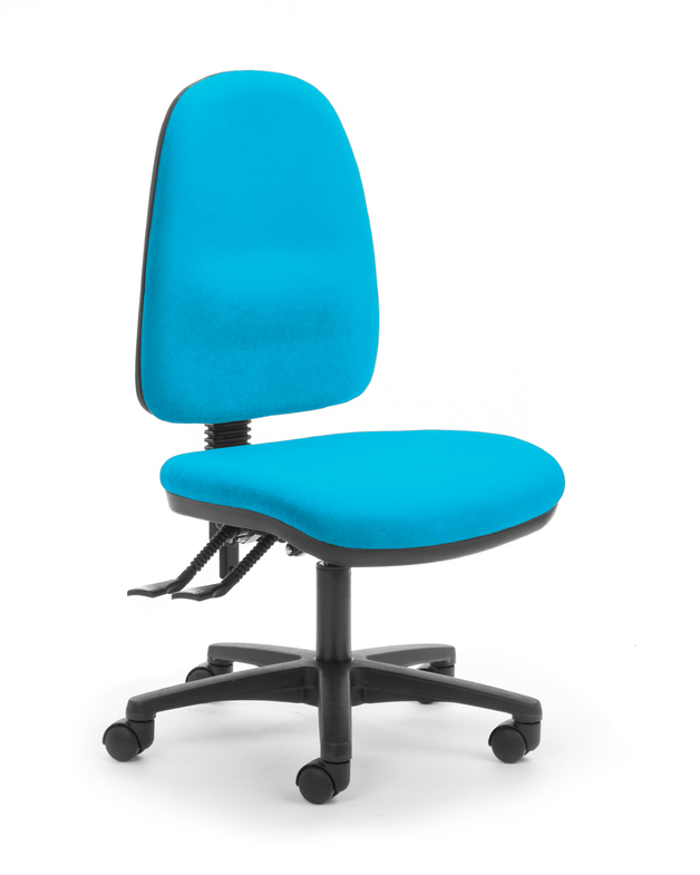 CS Alpha 2 Lever High Back Task Chair - Turquoise