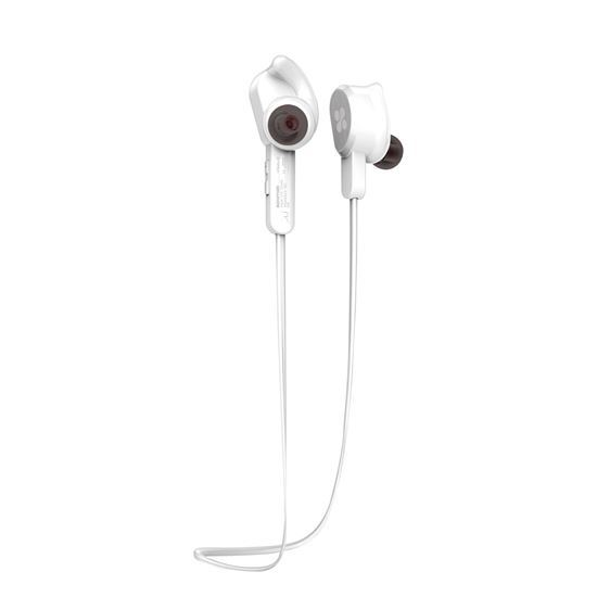 Promate Vitally-2 Wireless Secure-Fit Stereo Magnetic Earbuds - White