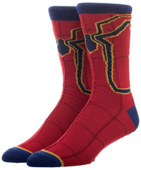 Avengers Infinity War Iron Spiderman Crew Socks