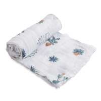 Little Unicorn: Cotton Muslin Swaddle - Prickle Pots (Single)