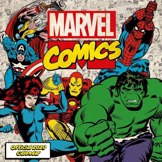 Marvel Comics Classic 2020 Square Wall Calendar