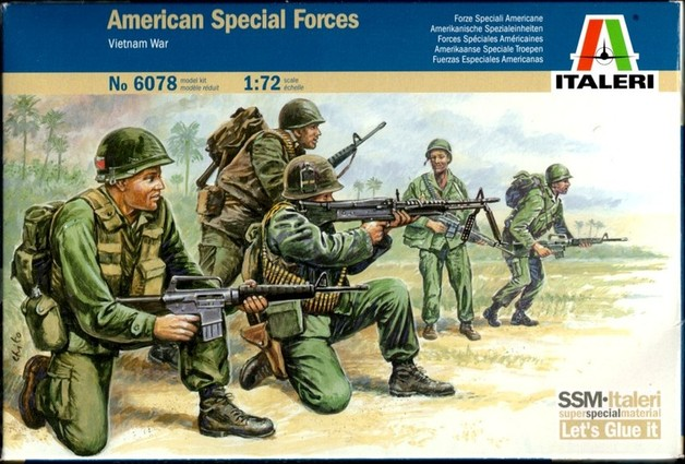 Italeri American Special Forces (Vietnam War) 1:72 Model Kit