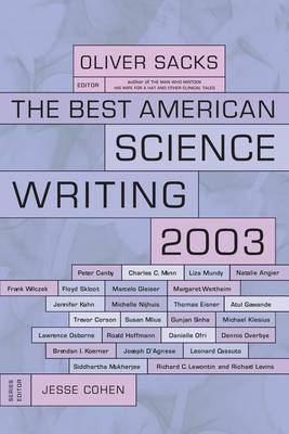 The Best American Science Writing 2003 by Oliver Sacks image