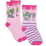 The Smurfs Socks Smurfette 2 Pack Dots/Stripes (Size 5/8)