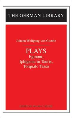 Plays by Johann Wolfgang von Goethe image
