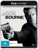 Jason Bourne on Blu-ray, UHD Blu-ray, UV