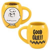 Peanuts: Charlie Brown 'Good Grief' Oval Ceramic Mug (532ml)