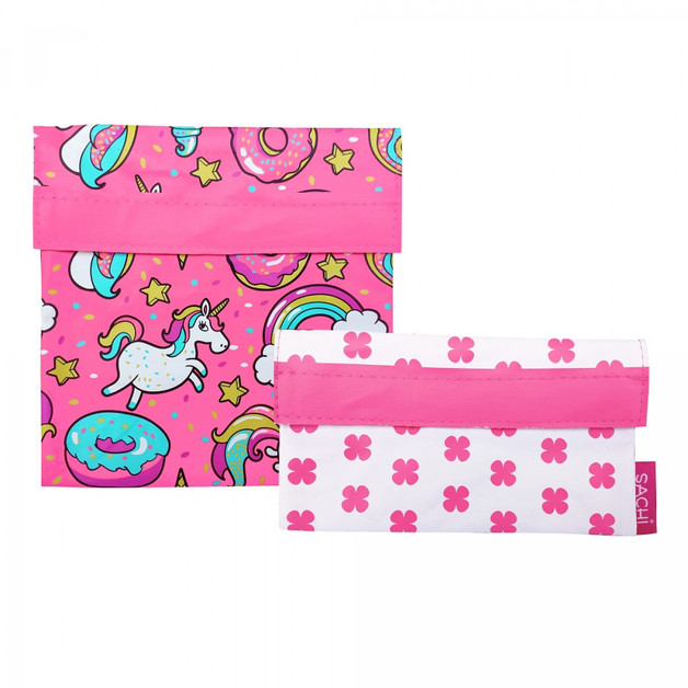 Sachi Reusable Lunch Pocket Set - Unicorn