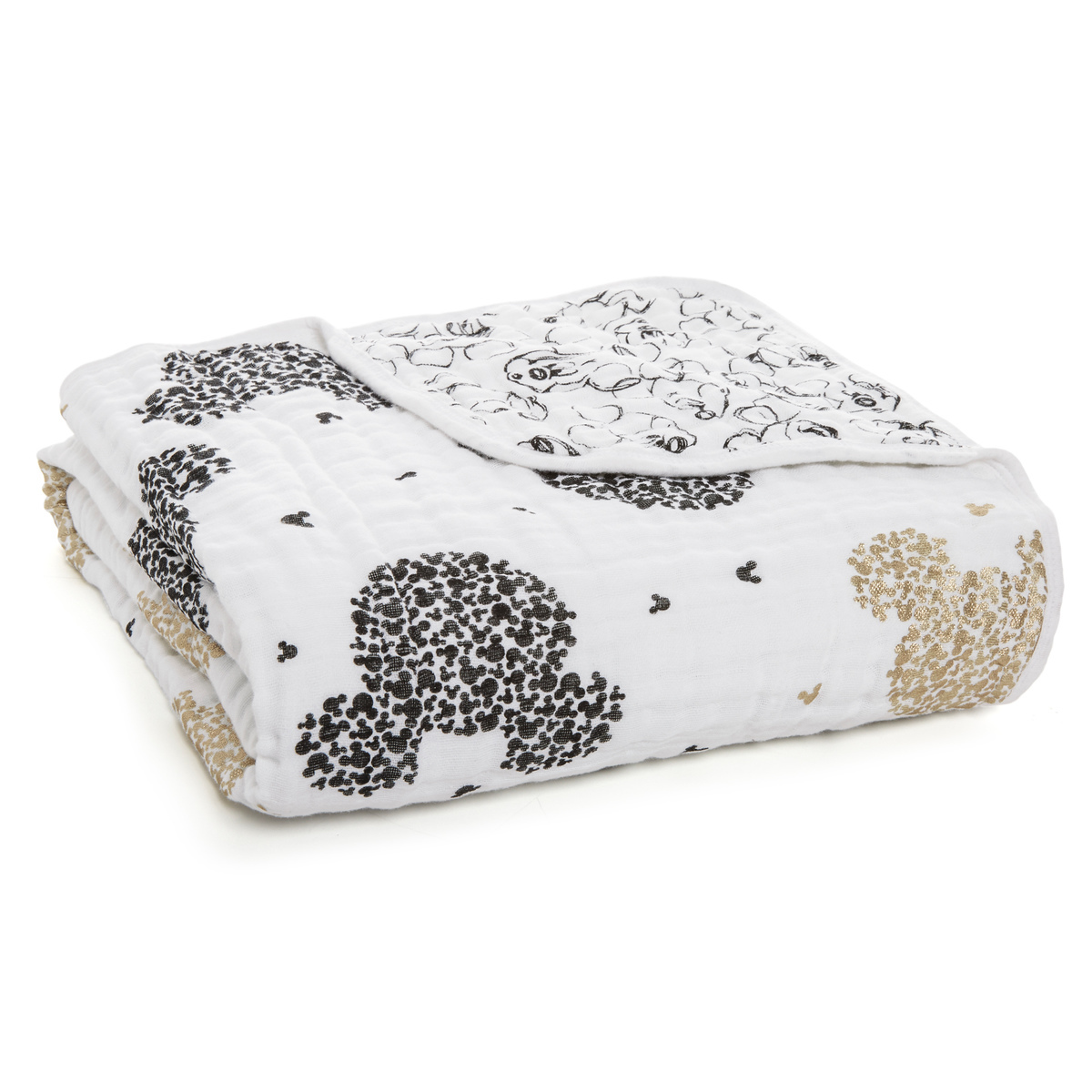 Aden + Anais - Scatter Metallic Dream Blanket - Mickey's 90th image