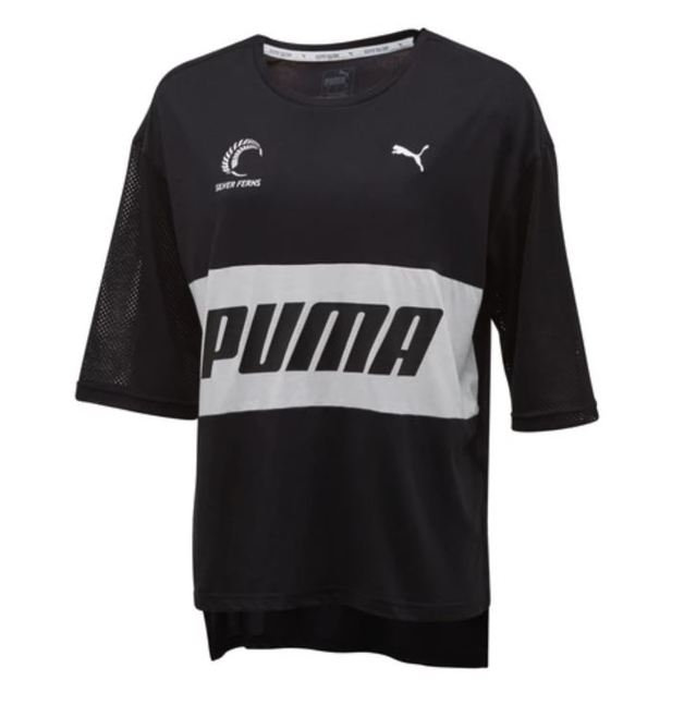 Puma: Silver Ferns Style T-Shirt: Black/White (Large)