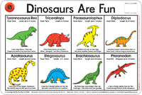 Learning Can Be Fun - Dinosaurs Are Fun - Placemat