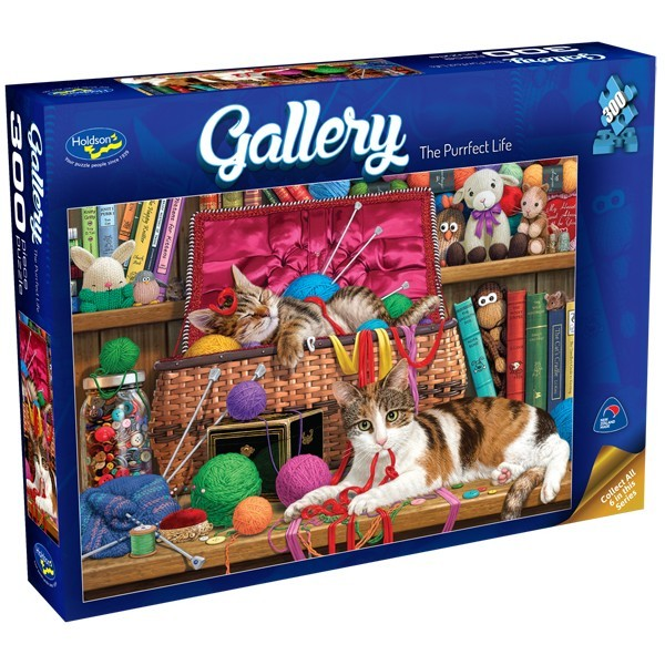Holdson: 300pce Gallery Series XL Puzzle (The Purrfect Life) image