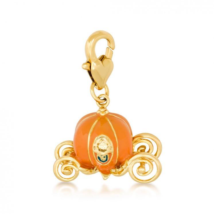 Couture Kingdom: Disney - Cinderella Pumpkin Carriage Charm (Yellow Gold) image