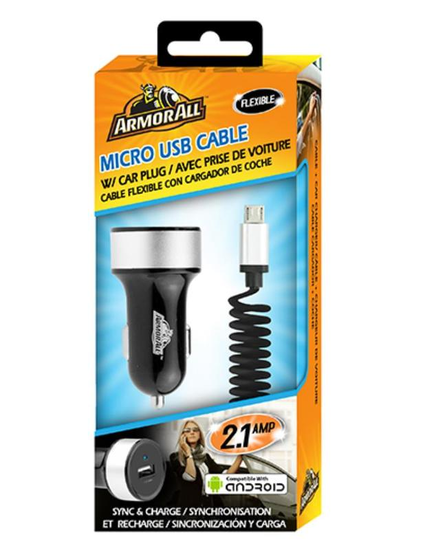 Armor All: Micro USB with 2.1amp Car Charger