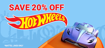 20% off Hot Wheels!