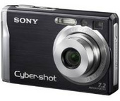Sony DSCW80B 7.2MP Digital Camera - Black