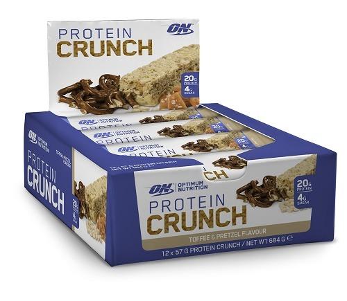 Optimum Nutrition: Protein Crunch Bars - Toffee & Pretzel (12x57g)