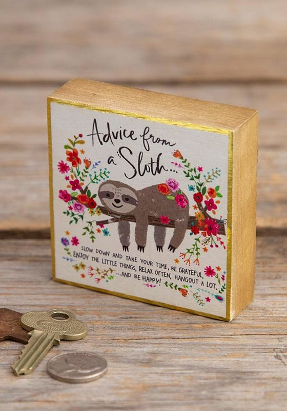 Natural Life: Tiny Block - Advice From A Sloth