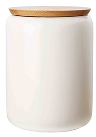 Maxwell & Williams White Basics Canister Bamboo Lid 1.2L Gift Boxed