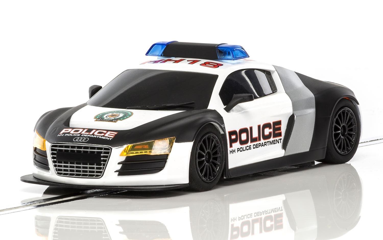 Scalextric: Audi R8 Police Slot Car image