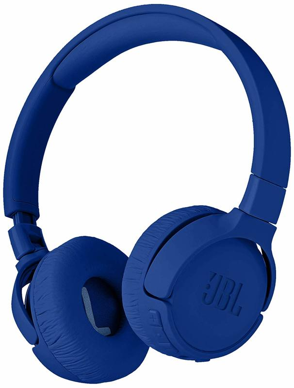 JBL T600 Noise-Cancelling Bluetooth Headphones - Blue