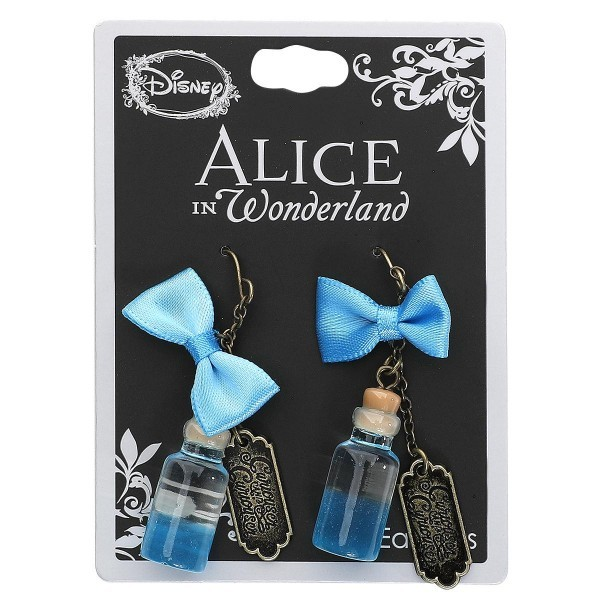 Neon Tuesday: Alice In Wonderland - Curiouser Bottle Earrings image
