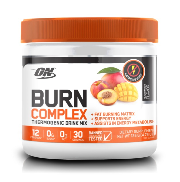 Optimum Nutrition: Burn Complex Non-Stimulant Thermogenic Drink Mix - Peach Mango (30 Serves)