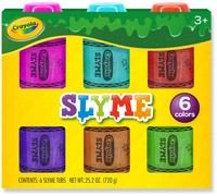 Crayola: Slyme - 6-Pack (Assorted Colours)
