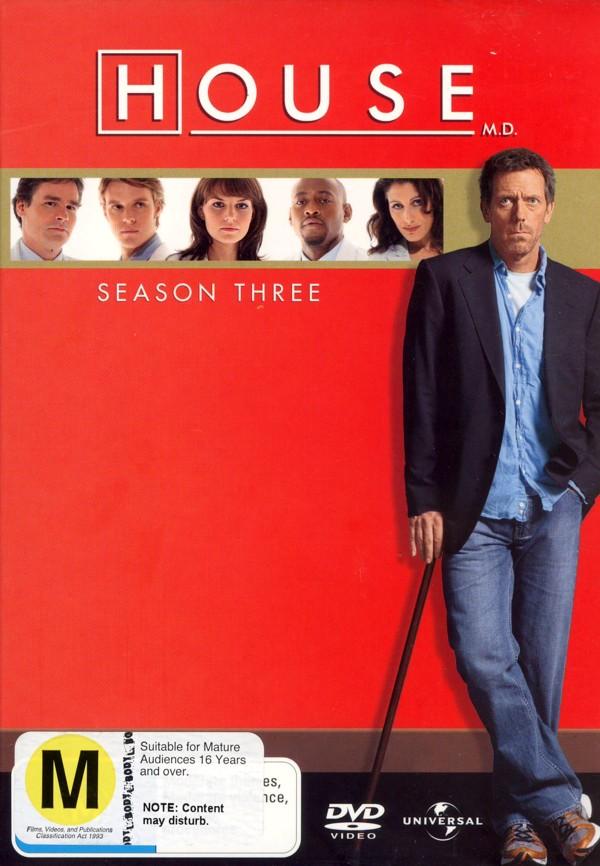House, M.D. - Season 3 (6 Disc Set) on DVD image