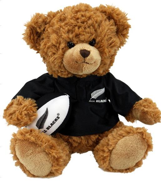 All Blacks Player Bear with Haka sound image
