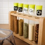 Scientific Spice Rack (Natural/Lime)