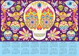 Sugar Skulls 2015-2016 16-Month Calendar Poster