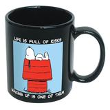 Peanuts: Life Is Full Of Risks - Ceramic Mug