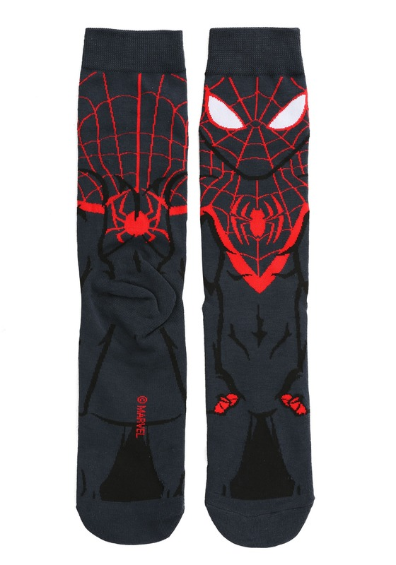 The Ultimate Spiderman: 360 Character Crew Socks - Miles Morales Spiderman