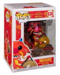 Disney's Mulan: Mushu with Gong (Diamond Glitter) - Pop! Vinyl Figure
