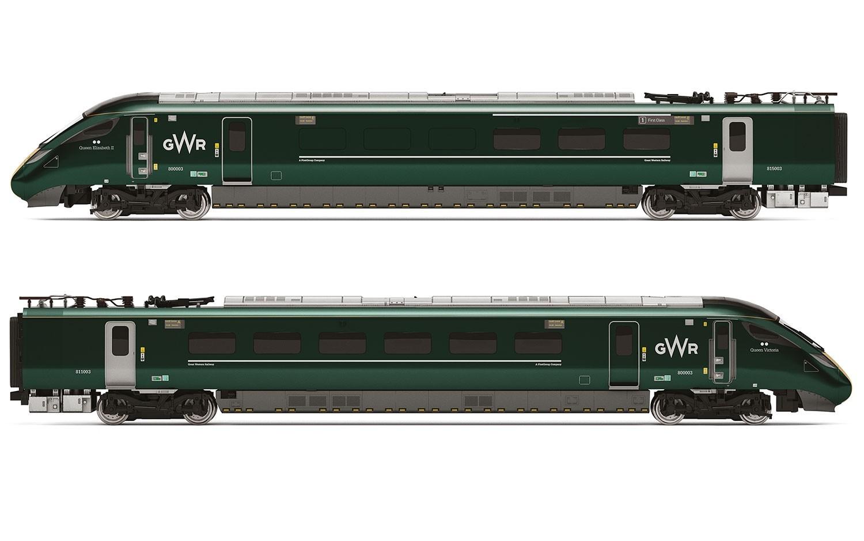 Hornby: GWR, IEP Bi-Mode Class 800/0 'Queen Elizabeth II' & 'Queen Victoria' Train Pack image