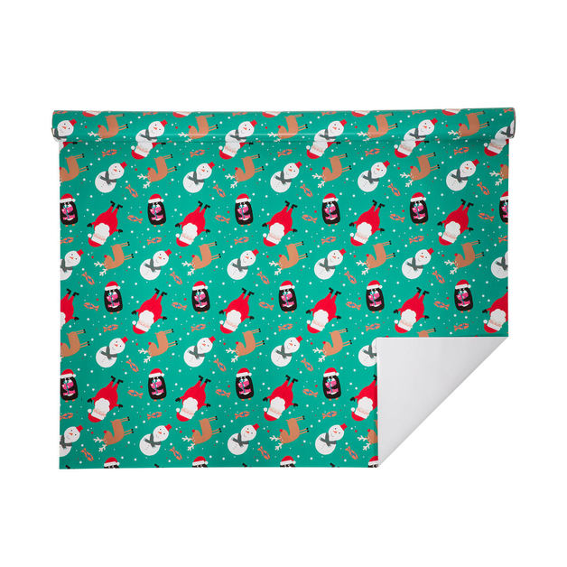 Hallmark: Christmas Wrap 5m Roll - Santa Fun